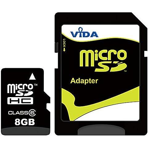 Nouva Vida IT 8GB Micro SDHC Scheda di Memoria per