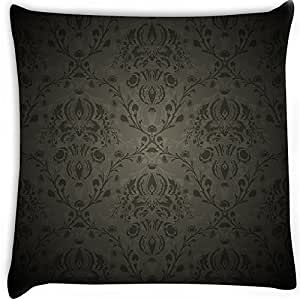 Snoogg Vector Damask Floral Pattern Digitally Printed Cushion Cover Pillow 22 x 22 Inch