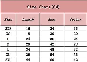 YiJee Mode Mignon Vêtements pour Chien D'été Animaux Gilet Chiot Imprimé T-shirt