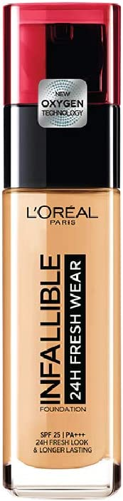 L'Oreal Paris Infallible 24H Fresh Wear Foundation, 140 Golden Beige, 30 ml