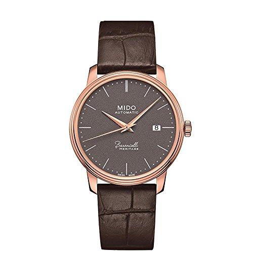 Mido Herren Analog Automatik Uhr mit Leder Armband M0274073608000