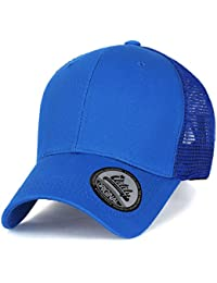 ililily Extra Big Size Adjustable Mesh Back Curved Baseball Cap Trucker Hat