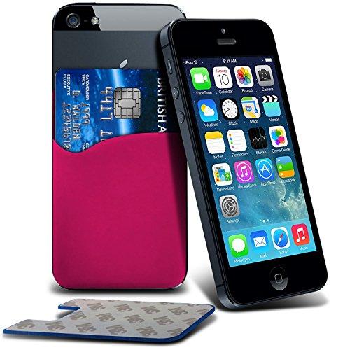 i-Tronixs (Hot Pink) Motorola Moto G (2014) dual sim Premium Stylish 3M Silikon Kleber Smart Credit/Debit Card Tasche