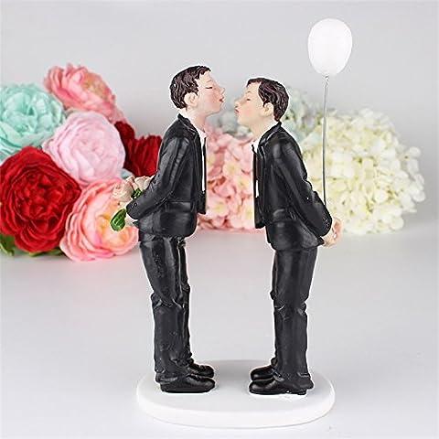 Lanlan kaukasischen Tender Moment Gay Figur mit Ballon 15cm Hochzeit Tortenaufsatz