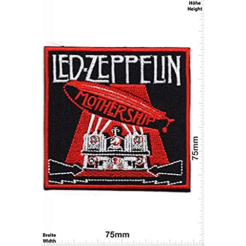 Patch - Patch -Led Zeppelin - Mothership - MusicPatch - Rock - Chaleco - toppa - applicazione - Ricamato termo-adesivo - Give Away