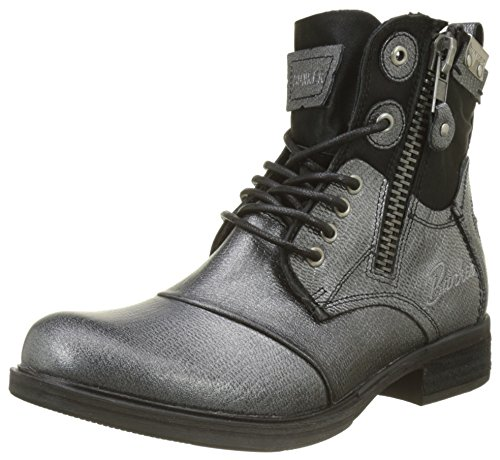 BUNKER Damen Zipy Kurzschaft Stiefel, Schwarz (Black SM1), 37 EU