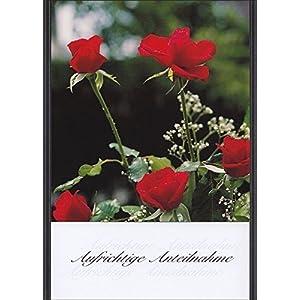 Handmadegruss Trauer, edle Kondolenzkarte, mit Text