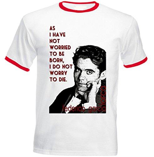 Teesquare1st Men's FEDERICO GARCIA LORCA Red Ringer T-shirt