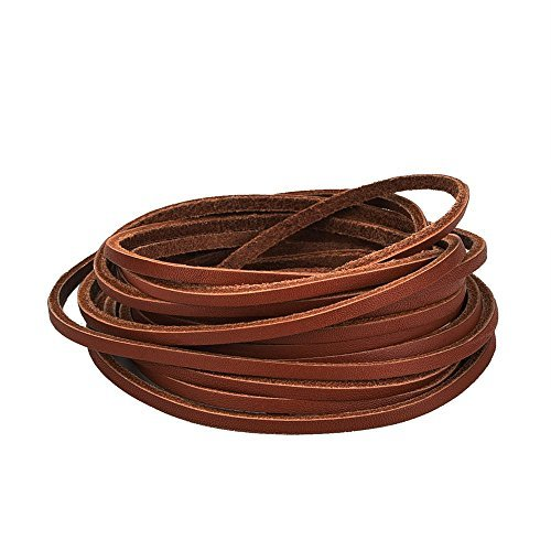 mudder-35-mm-flat-genuine-leather-strip-cord-string-brown