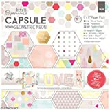 """Papermania Double-Sided Paper Pack 6""""X6"""" 36/Pkg-Geometric Neon, 36 Designs/1 Each"""
