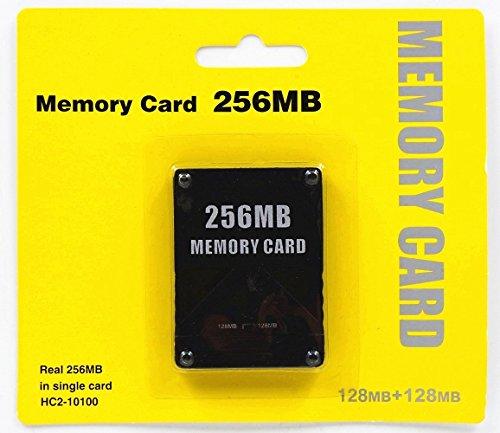 Ankong 2256MB Speicherkarte Spiel Speicherkarte für Sony Play Station 2PS2