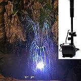 98W 3800L / h versenkbare Tauchpumpe Brunnen-Wasserpumpe Brunnenwasserpumpe mit LED-Dimmung