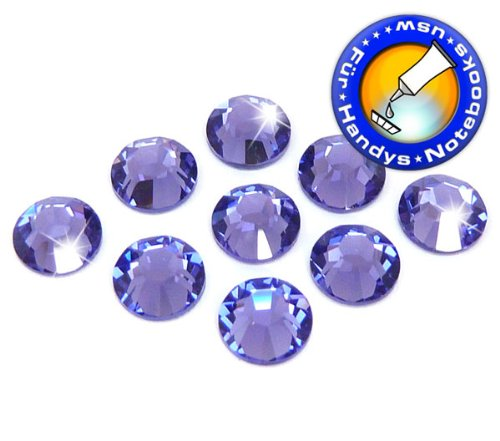 50 Stück SWAROVSKI ELEMENTS 2058 XILION - KEIN Hotfix, Tanzanite, SS5 (Ø ca. 1,8 mm), Strass-Steine zum Aufkleben (Xilion Crystal)