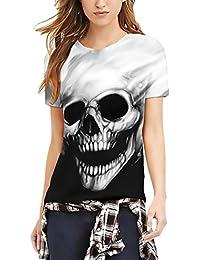 Camisetas Y Tops Calaveras es Camisetas Amazon Blusas Ropa Z7B8vOxW