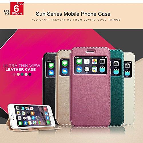 Housse en cuir de tŽlŽphone d'origine Case KLD SUN Protection sŽrie PU TPU pour l'iPhone 6 Plus blanc