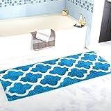 Homcomoda Tappetino da Bagno Microfibra Tappetini per il Bagno Antiscivolo Tappeto da Bagno (45cm x 120cm, Blue )