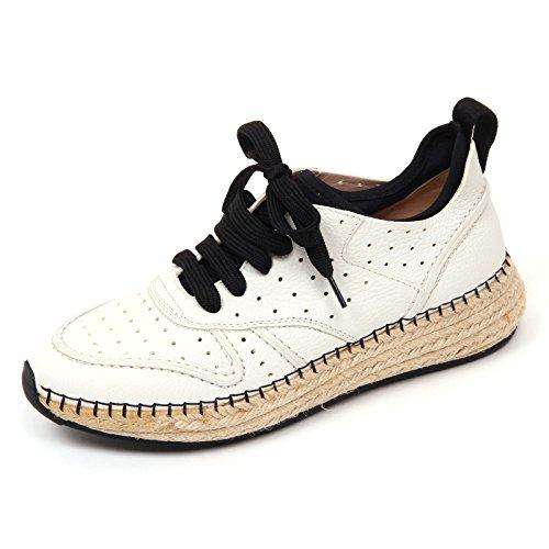 Tod's Tod's D0518 Sneaker Donna Scarpa Run Rafia 29A forata Avorio Shoe Woman