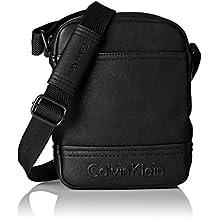 Calvin Klein Bastian Mini Reporter, Bolsa para Hombre, Negro (Black), 5x22x18 cm (b x h x t)