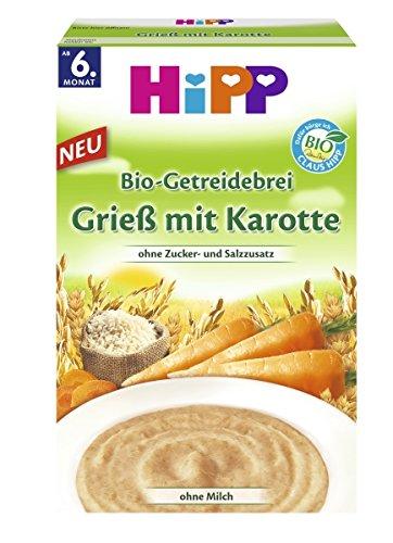 Hipp Grieß mit Karotte, 6er Pack (6 x 200 g)