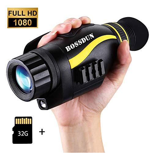 Nachtsichtgerät Jagd Militär Infrarot 5X35 Vergrößerung mit 32GB TF Karte Infrarot Kamera und Stativanschlussgewinde Wiedergabe Foto und Videoaufnahmefunktion bei Tag und Nacht zum Außeneinsatz