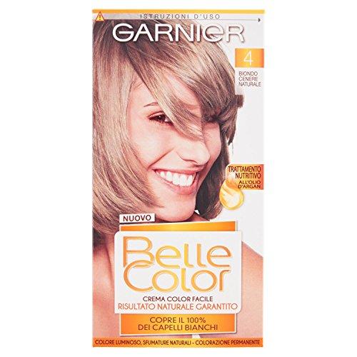 Garnier Belle Color Colorazione Permanente, Risultato Naturale e Luminoso, 4 Biondo Cenere