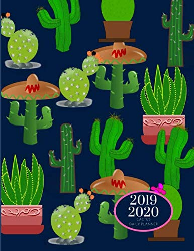 2019 2020 15 Months Succulent Cactus Daily Planner: Academic Hourly Organizer In 15 Minute Interval; Appointment Calendar With Address Book, Password ... Diary With Quotes; From Jun 2019 To Aug 2020