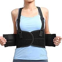 Barra inferior de la espalda cinturón para aliviar el dolor y la prevención de lesiones, seguridad en el trabajo y postura para hombres y mujeres