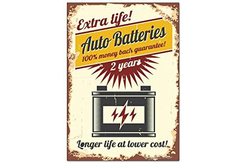 Fridge Magnet Nostalgique Rétro Voiture Batterie de voiture