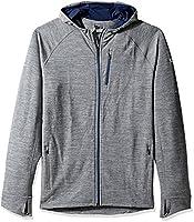Icebreaker Men's Quantum Long Sleeve Zip Hood Cover Ups, Gritstone Heather, 2X-Large