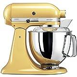 KitchenAid 5ksm175psemy, des équipements Robot Artisan avec Profi, jaune pastel