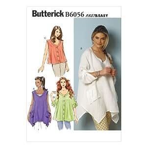 Butterick Patterns 6056ZZ Patron de haut pour femme Tailles L/XL/XXL
