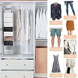 YISSVIC 2 Kleiderschutzhülle Kleidersack Anzug Mantel Kleidung Staubschutz mit Reißverschluss Kleidung Lagerung Hängetasche