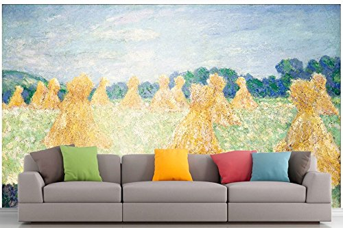 Giverny, Monet-museum (Roshni Arts® – kuratierte Art Wall Mural – Monet – Die Young Damen von Giverny | selbstklebend Vinyl Ausstattung Décor Art Wand – 243,8 x 182,9 cm)