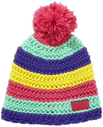 adidas Women's Crochet Beanie Hat Multi-Coloured Blast Purple F13/Prism Mint