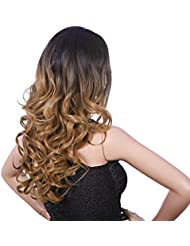 Songmics Perruque pour Femme longue ondulée Cheveux artificiels ombrés blonds WFY166