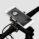 QHJ Fahrrad Halter Griff Telefon Aluminiumlegierung Halterung Lenkerhalter Extender Fahrrad Zubehör (Schwarz)