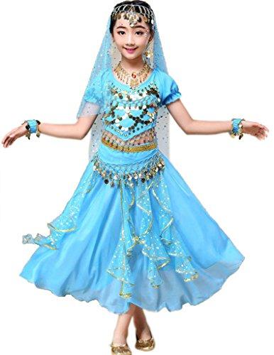 Astage Indische Kleidung Bollywood Orient Kleid Halloween Karneval - Günstige Pailletten Tanz Kostüm