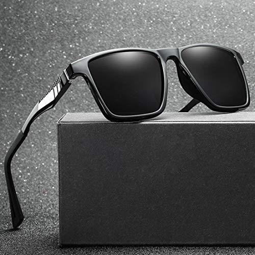 Yiph-Sunglass Sonnenbrillen Mode Persönlichkeit Full Frame Durable Herren Polarized Sonnenbrille UV400 Schutz Fahren Radfahren Laufen Angeln Golf Sonnenbrille (Farbe : Schwarz)