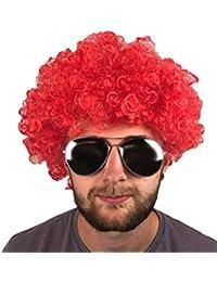 perruque afro bouclés Parti multicolore Clown Funky Disco Années 70homme Mesdames Fancy Dress