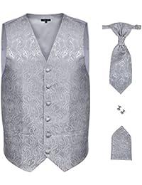 toalla de inserci/ón y corbata plateado Aguja Vivente Vivo Hombre Set De Regalo Con Manguito botones en caja de regalo