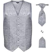 vidaXL Accesorios de boda para hombre con chaleco de cachemira