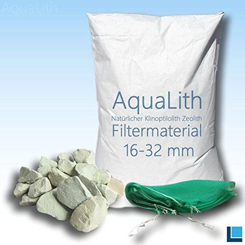 25 kg matériau filtrant zéolite 16-32 mm incl. Filtre sac en filet pour les étangs