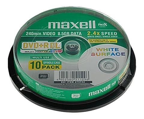 Maxell DVD+R DL 8,5GB 240Min 8x Cakebox (10 Disc)