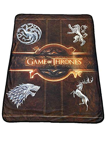 Fleecedecke mit Hasen-Tanaka-Game of Thrones-Logo - House Sigil-Fleece-Überwurf - Game of Thrones Familienwappen 116,8 x 152,4 cm