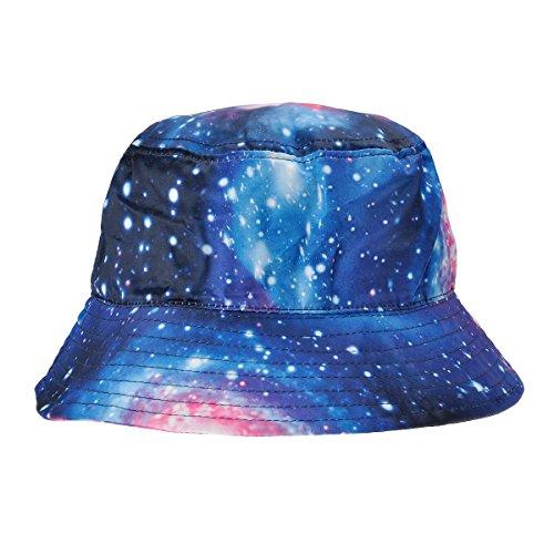ZLYC Herren Frauen Unisex Galaxie Bucket Hat Fischerhüte Sommerhut Outdoor-Hut