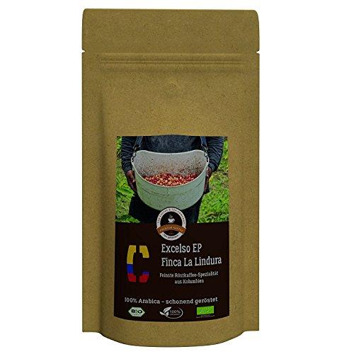 Kaffee Globetrotter - Colombia Excelso EP Finca la Lindura - Bio - 200 g Grob Gemahlen - für...