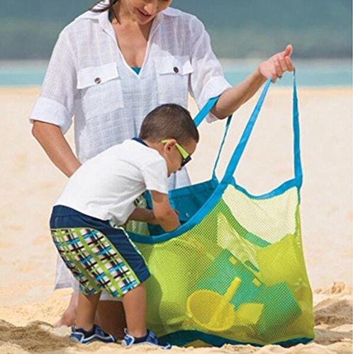 vi. Yo grande sabbia acqua giocattoli away Beach mesh bag ideale per riporvi giocattoli per bambini, palline, spiaggia conchiglie Pouch Tool o altri articoli spiaggia Necessaries Beach Toy Storage Bag Green