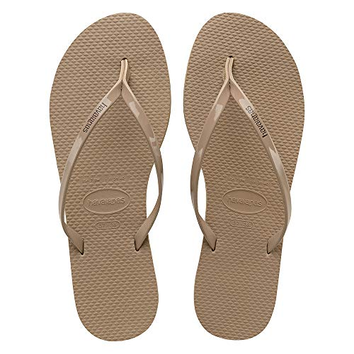Havaianas You Metallic, Chanclas para Mujer, Beige (Rose Gold), 37/38 EU (35/36 Brazilian)