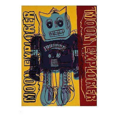 Moon Explorer Robot, c.1983 (blue & yellow) Art Print Art