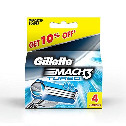 Preisvergleich Produktbild Gillette MACH3 Turbo Systemklingen 4er